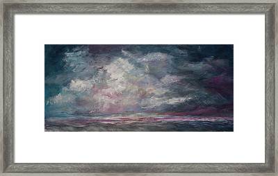 Storm's Approaching Framed Print