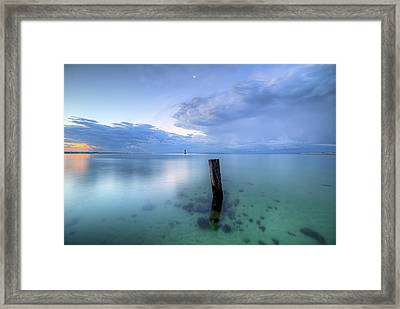 Storms At Dawn On The Emerald Coast Framed Print by JC Findley