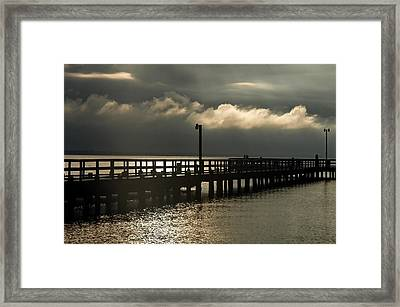 Storms Brewin' Framed Print by Clayton Bruster