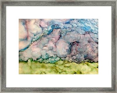 Storms Brewing Framed Print by Marie Haley-Twaddle