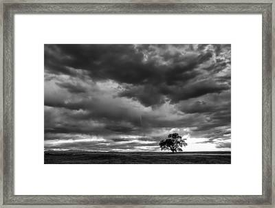 Storms Clouds Passing Framed Print