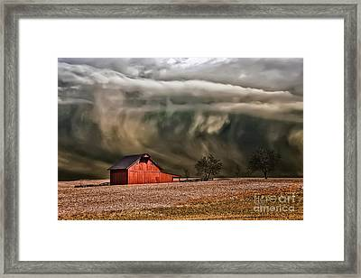 Storm's Coming Framed Print