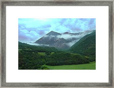 Framed Print featuring the photograph Storm's End by Marie Leslie
