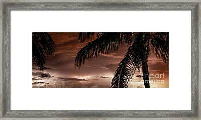 Storms On The Horizon Framed Print by Jon Neidert