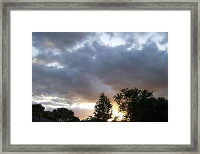 Framed Print featuring the photograph Storms On The Horizon by Skyler Tipton