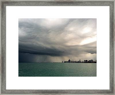 Storms Over Chicago Framed Print