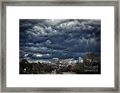 Storms Over Columbia, Sc Framed Print