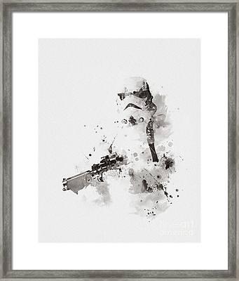 Stormtrooper Framed Print by Monn Print
