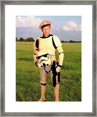 Stormtrooper Barney Fife Framed Print by Paul Van Scott