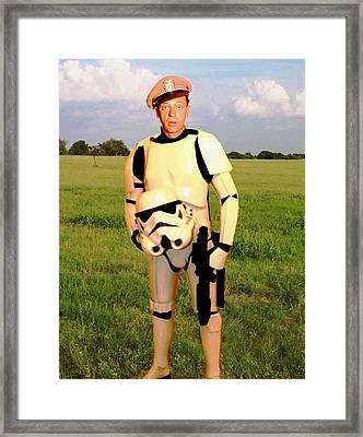 Stormtrooper Barney Fife Framed Print by Paul Van Scott
