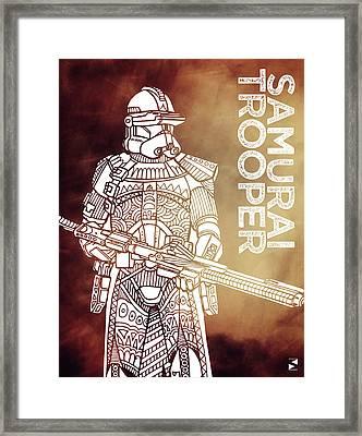 Stormtrooper - Star Wars Art - Brown Framed Print by Studio Grafiikka