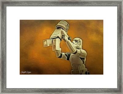 Stormtrooper Family Framed Print by Leonardo Digenio