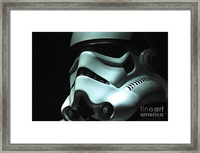 Stormtrooper Helmet Framed Print by Micah May