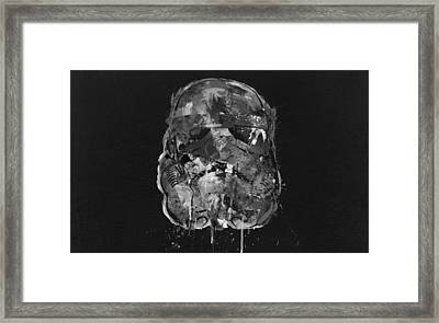 Stormtrooper In Shades Framed Print by Mitch Boyce