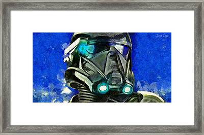 Stormtrooper Of Future - Da Framed Print by Leonardo Digenio