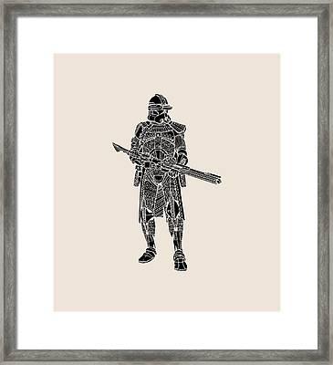 Stormtrooper Samurai - Star Wars Art - Black Framed Print