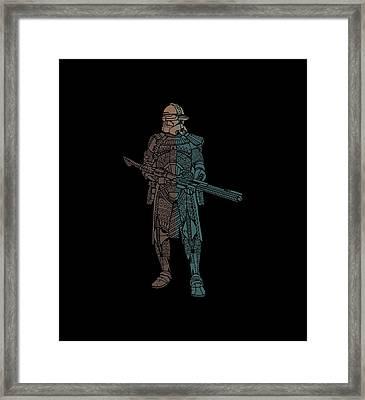 Stormtrooper Samurai - Star Wars Art - Minimal Framed Print