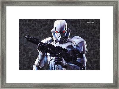 Stormtrooper Terminator - Da Framed Print by Leonardo Digenio