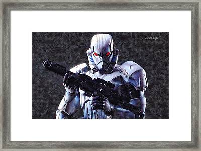 Stormtrooper Terminator - Pa Framed Print by Leonardo Digenio
