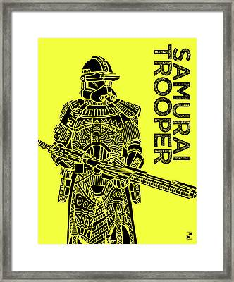 Stormtrooper - Yellow - Star Wars Art Framed Print by Studio Grafiikka