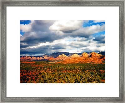 Stormwatch Arizona Framed Print by Kurt Van Wagner