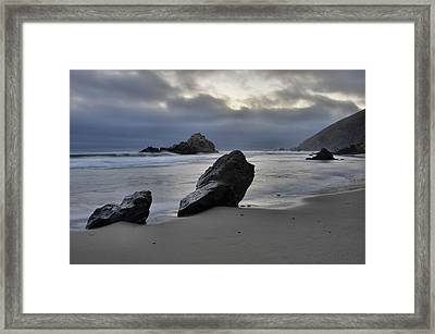 Stormy Afternoon - Big Sur Framed Print by Stephen  Vecchiotti