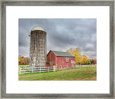 Stormy Autumn Skies Framed Print by Bill Wakeley