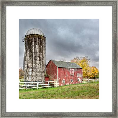 Stormy Autumn Skies Square Framed Print by Bill Wakeley