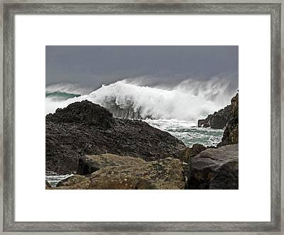 Stormy Ballintoy Framed Print