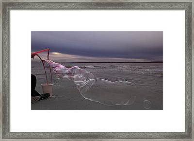 Stormy Bay Framed Print by Betsy Knapp
