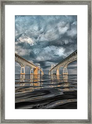 Stormy Chesapeake Bay Bridge Framed Print