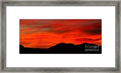 Stormy Colorado Sunrise Framed Print by Max Allen