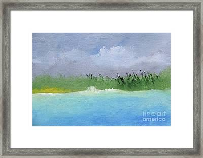 Stormy Day At The Beach Framed Print