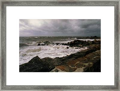Framed Print featuring the photograph Stormy Day by John Scates