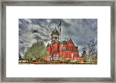 Stormy Day Jones County Georgia Court House Art Framed Print