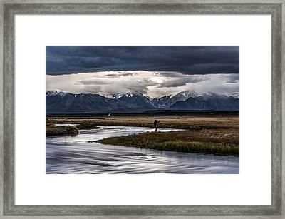 Stormy Day Of Fishing Framed Print