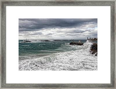 Stormy Day On Redondo Framed Print