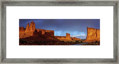 Stormy Desert Framed Print by Chad Dutson