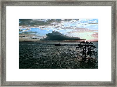 Stormy Evening Framed Print by Judy Vincent