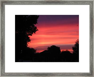 Framed Print featuring the photograph Stormy Evening Sky by Frederic Kohli