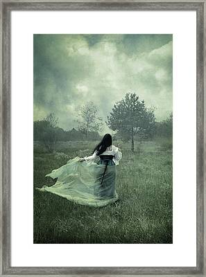 Stormy Fields Framed Print by Cambion Art