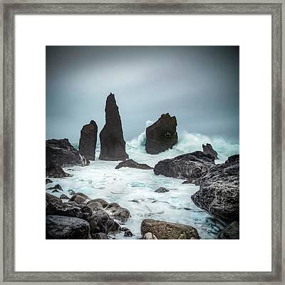 Stormy Iclandic Seas Framed Print