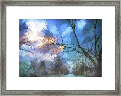 Stormy In Stockton Framed Print