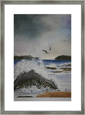 Stormy Inlet Framed Print