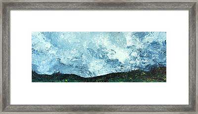 Framed Print featuring the painting Stormy by Jane Autry