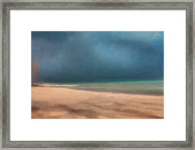 Stormy Lake Huron 2 Framed Print by Chamira Young