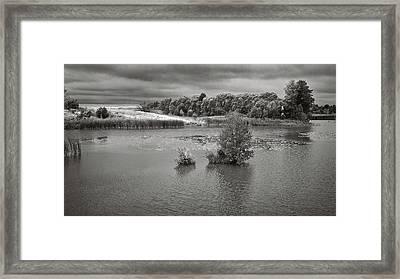 Stormy Lake. Malyi Lystven, 2013. Framed Print