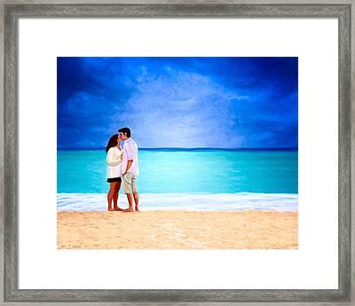 Stormy Love - Playa Del Carmen Framed Print