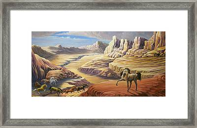 Framed Print featuring the painting Stormy by Loxi Sibley