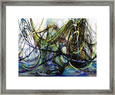 Stormy Monday Blues Framed Print by Karin Kuhlmann